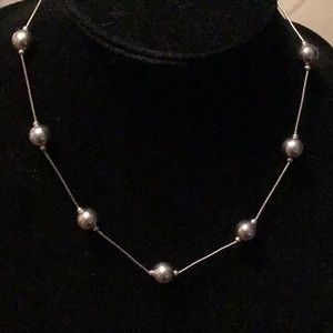 BEAUTIFUL VINTAGE STERLING SILVER STAMPED NECKLACE
